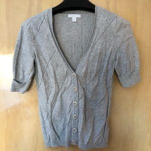 New York & Company Short Sleeved Cardigan